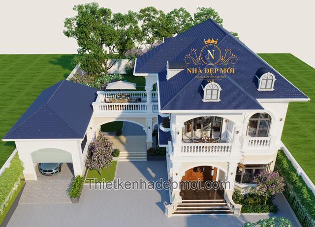 Nhà villa vườn 2 tầng có gara