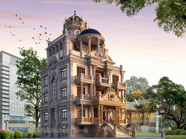 Biệt thự cổ điển 4 tầng đẹp tại Hà Nam