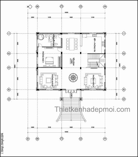 Bản vẽ biệt thự 4 tầng kiểu châu âu