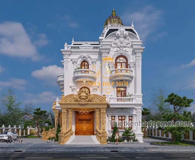 Kiến trúc biệt thự châu âu 3 tầng đẹp