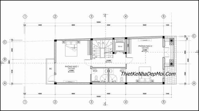 Thiết kế nhà tân cổ điển 3 tầng mái thái