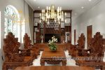 Mẫu phòng khách gỗ gia đình đẹp