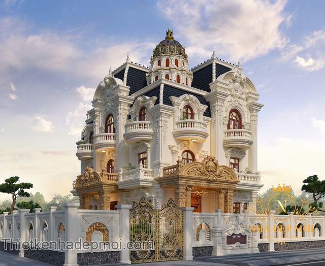 Biệt thự kiểu lâu đài 3 tầng đẹp