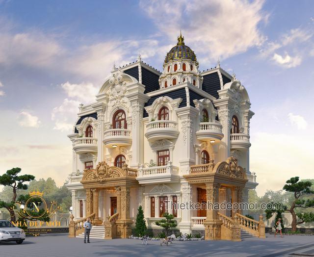 Biệt thự kiểu lâu đài 4 tầng