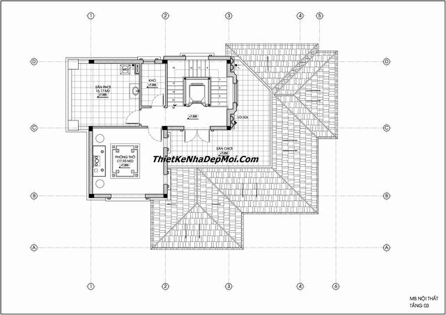Thiết kế biệt thự 2 tầng hiện đại cao cấp