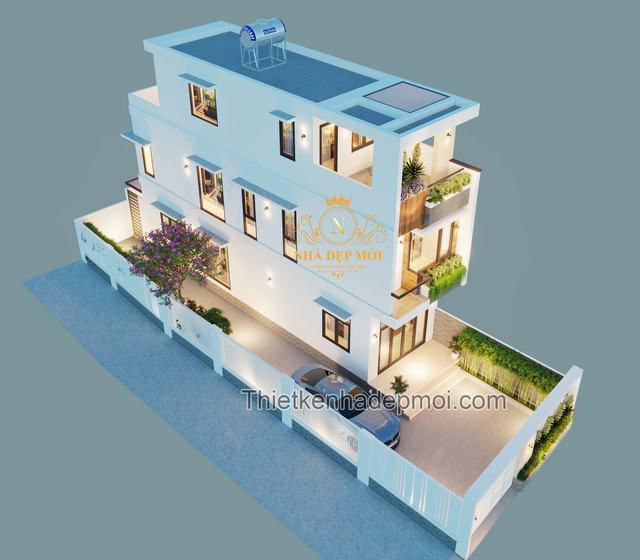 Nhà 2 tầng 1 tum 50m2