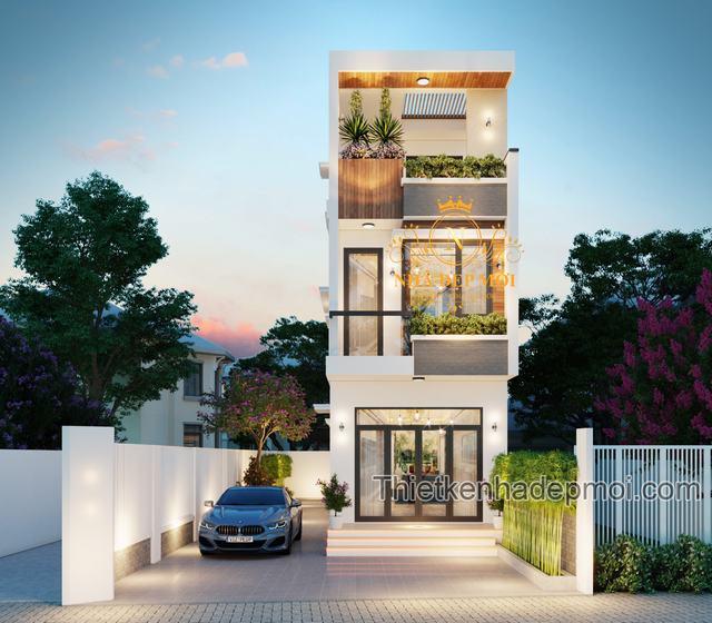 Thiết kế nhà 2 tầng 50m2 3 phòng ngủ
