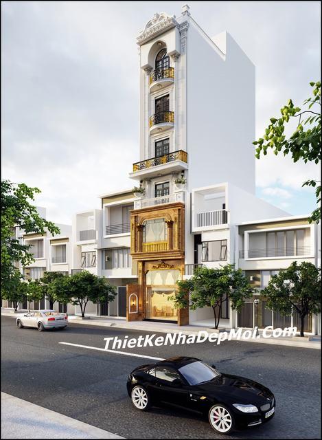 thiết kế nhà phố bán cổ điển