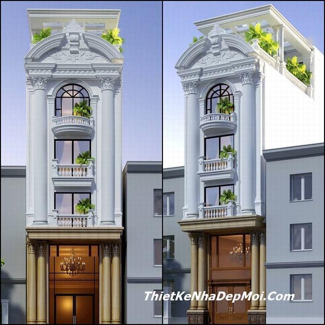 nhà phố 5 tầng tân cổ điển