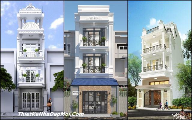 Các mẫu nhà phố 3 tầng mặt tiền cổ điển đẹp 2021