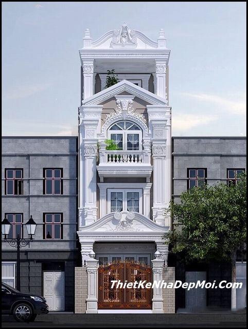 Nhà mặt phố 5m cổ điển 3 tầng