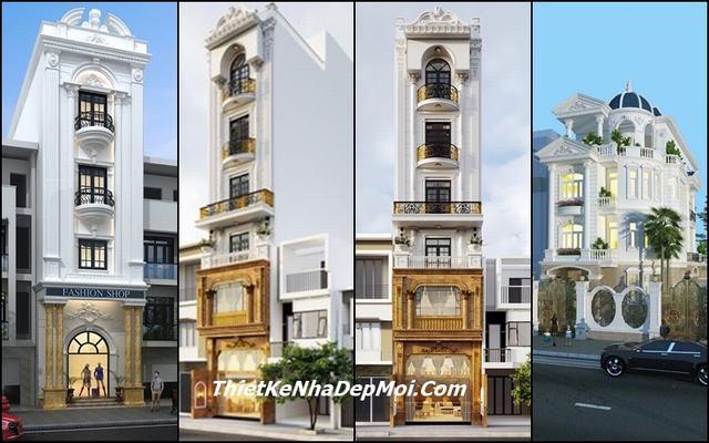 Những mẫu nhà lô phố tân cổ điển đẹp cao tầng