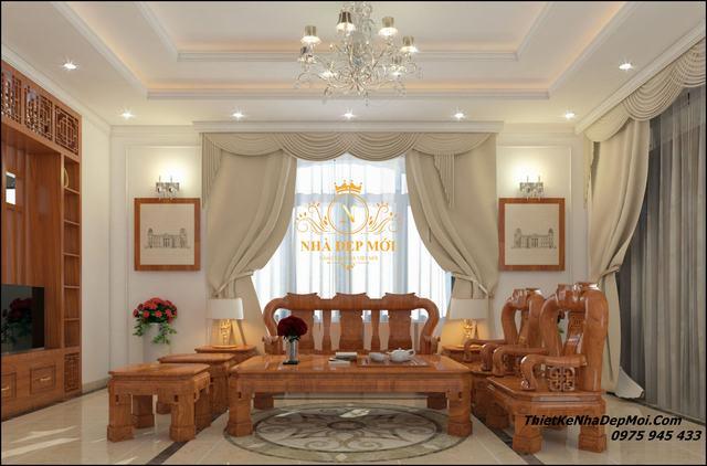 Nội thất nhà đẹp 100m2 2 tầng mặt tiền