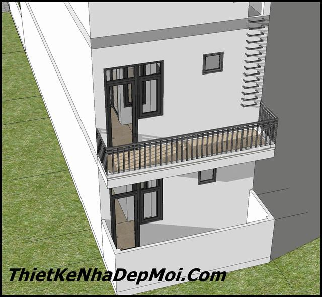 Bản vẽ nhà phố 5x16m đơn giản