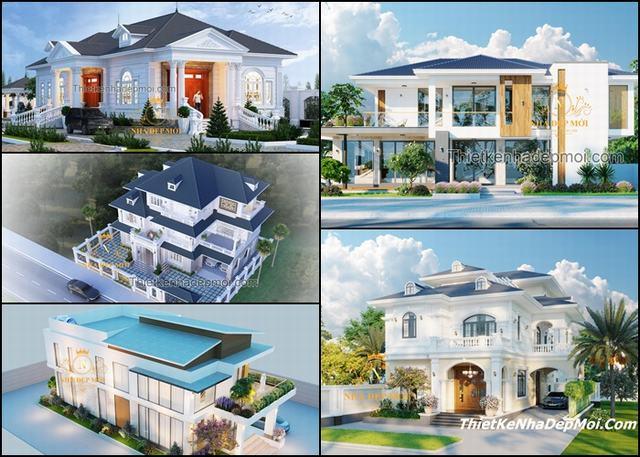 Các mẫu biệt thự ở quê 1 2 tầng đẹp 2021