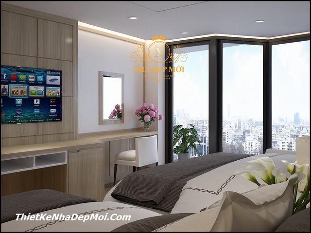 Phòng ngủ khách sạn 4 sao tiêu chuẩn