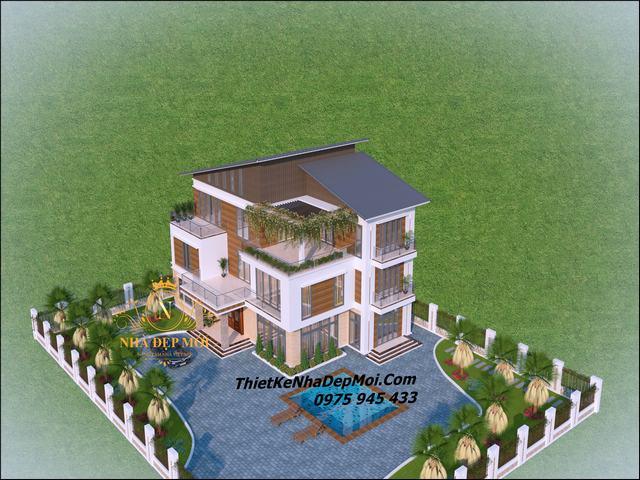 Nhà đơn giản 3 tầng ở quê đẹp 2021