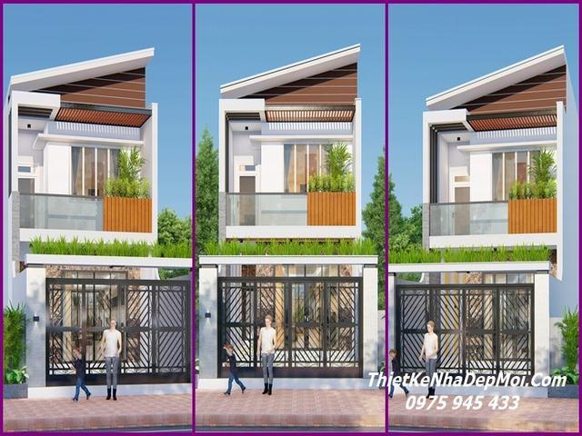 Các mẫu nhà 5x18 2 tầng đẹp 2021