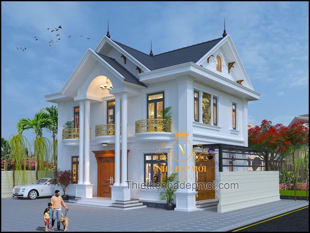 Nhà 2 tầng 3 gian đẹp 2021