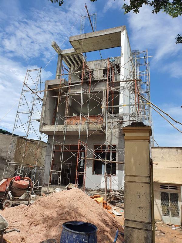 xây nhà phố 3 tầng hiện đại 6m