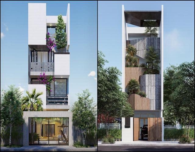 Nhà phố 3 tầng đẹp 2021
