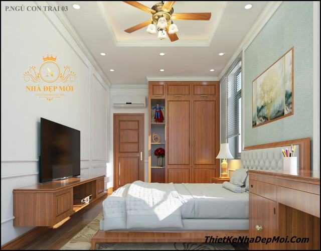 bộ nội thất phòng ngủ gỗ tự nhiên