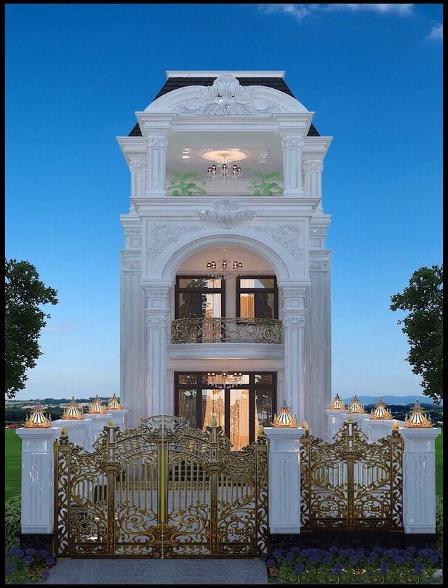 Thiết kế nhà cổ điển mặt tiền 6m