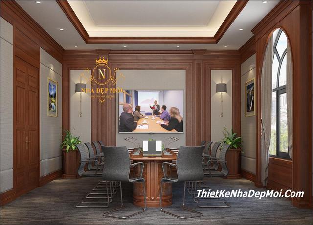 Cách trang trí phòng họp đẹp