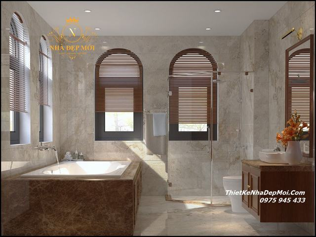 Thiết kế phòng tắm biệt thự đẹp 2021