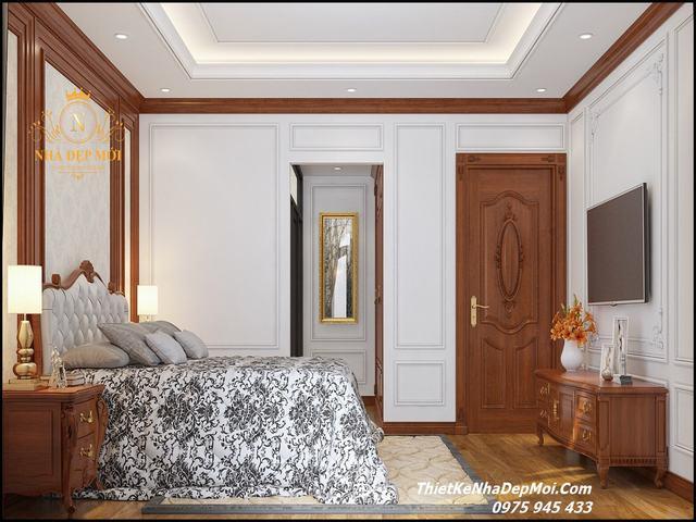 Thiết kế không gian biệt thự đẹp phong cách bán cổ điển