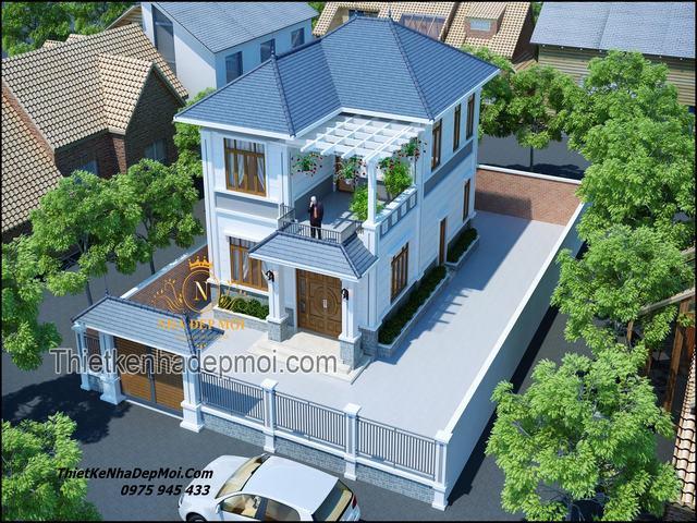 Nhà 1 trệt 1 lầu 8x15 4 phòng ngủ