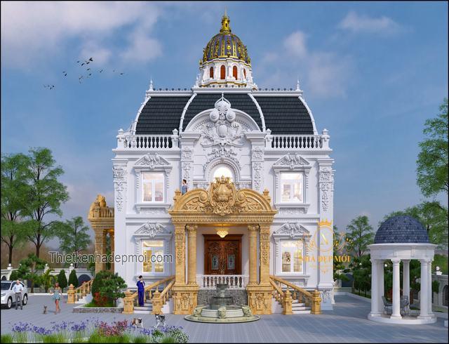 Thiết kế biệt thự cổ điển Pháp 2021
