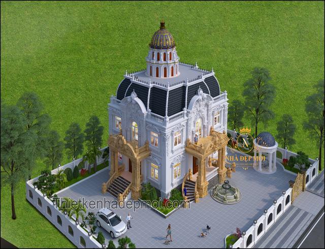 Villa cổ điển 2 tầng kiểu Pháp