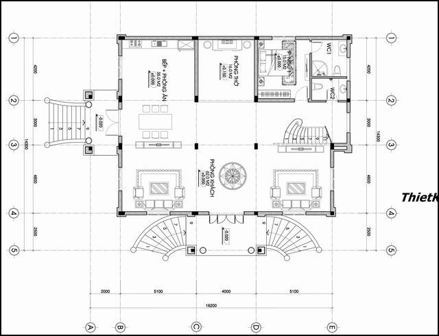Các quy trình thiết kế kiến trúc nhà biệt thự cổ điển Pháp năm 2021