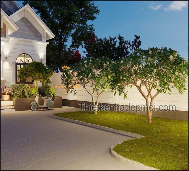 Hình ảnh sân vườn nhà cấp 4