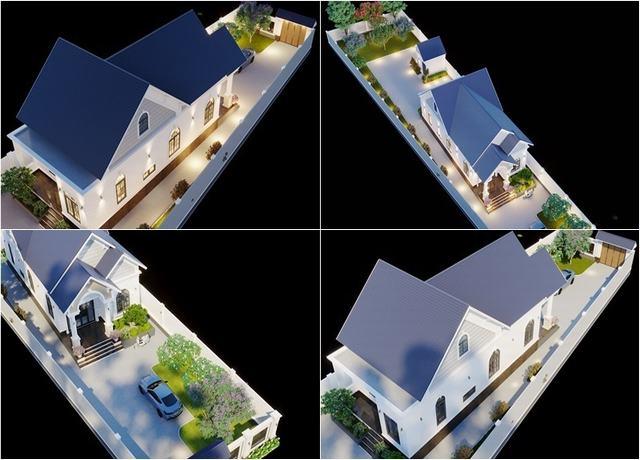 Kiến trúc sư vẽ nhà