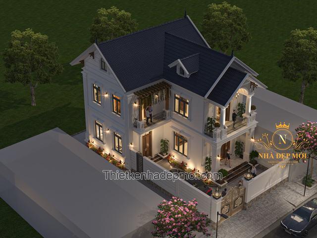 Nhà đẹp 2 tầng 100m2 mái thái