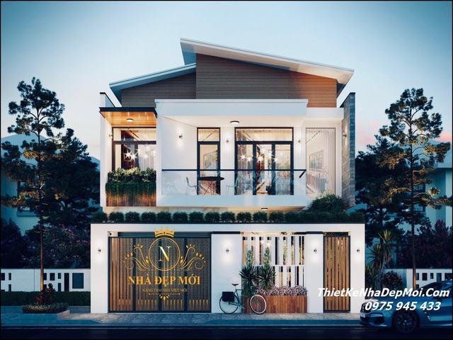 Nhà hộp vuông 2 tầng đẹp 2021