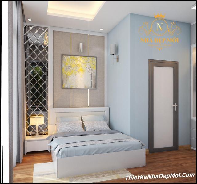 Nội thất phòng ngủ có wc khép kín 20m2