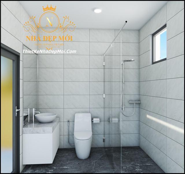 Phòng vệ sinh nhà hộp hiện đại
