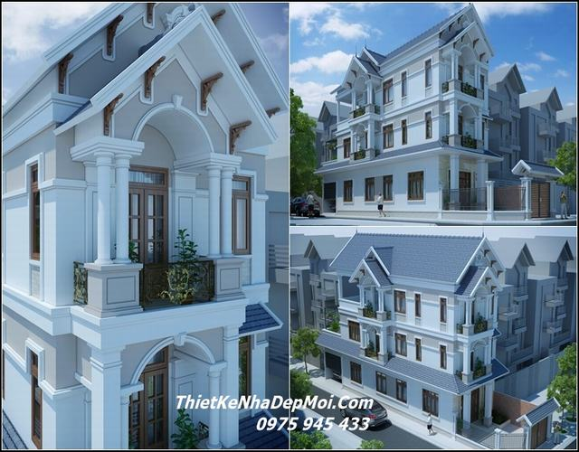 nhà 2 mặt tiền 3 tầng