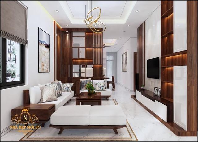 Phòng khách nhà cấp 4 hiện đại