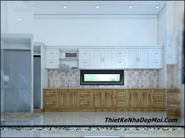 Nội thất phòng bếp nhà 3 gian đẹp