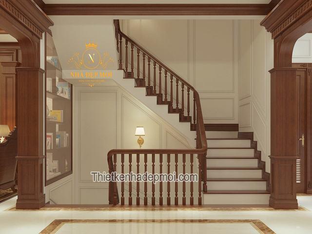 Mẫu thiết kế nội thất biệt thự hiện đại 8x16