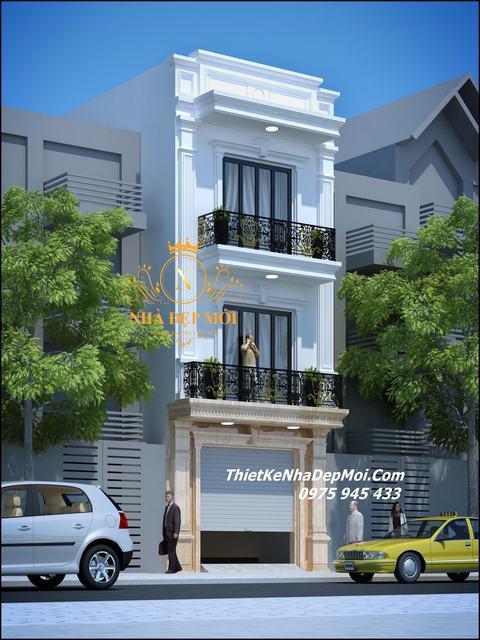 Mẫu thiết kế nhà đẹp 5x14 3 tầng
