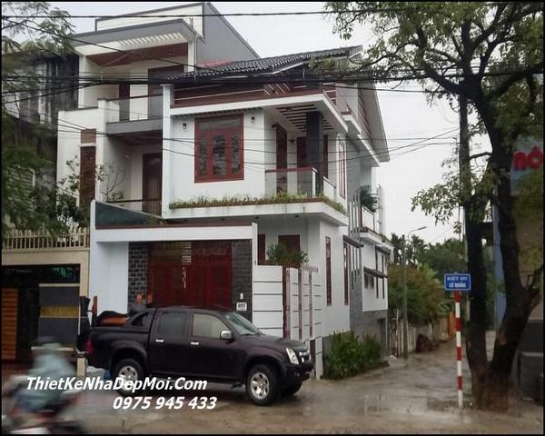 Xây nhà 2 mặt tiền đẹp Đông Hà