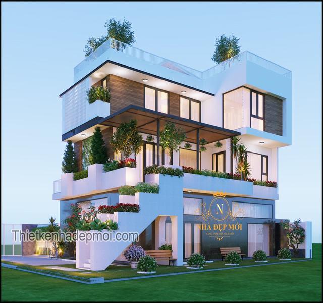 Biệt thự 3 tầng 5 phòng ngủ đẹp nhất 2021