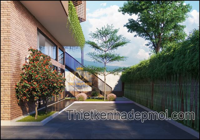 Biệt thự có 2 cầu thang hiện đại