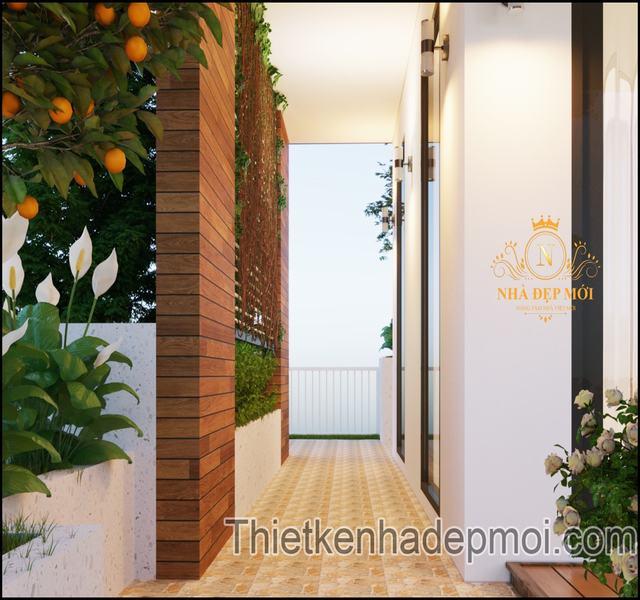 Nhà vườn 3 tầng hiện đại năm 2021