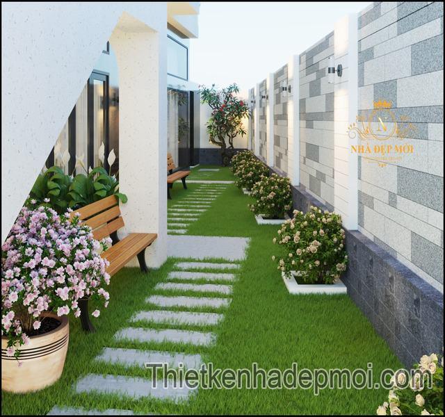 Biệt thự đồng quê mái bằng 3 tầng country Việt Nam